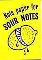 Cracker Jack Toy Prize: Note Paper Sour Notes