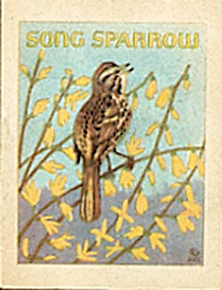 Cracker Jack Toy Prize:Bird Books Cardinal/Song Sparrow (Image1)