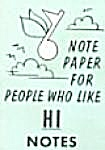 Cracker Jack Toy Prize: Note Paper People Like Hi Notes