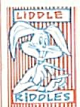 Cracker Jack Toy Prize: Liddle Riddles Rabbit