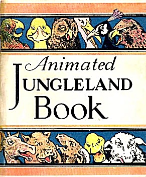 Vintage Cracker Jack Animated Jungleland Book (Image1)