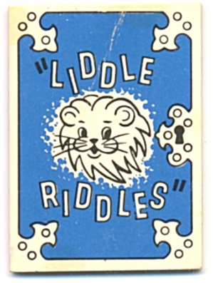 Cracker Jack Toy Prize: Liddle Riddles Lion