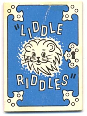 Cracker Jack Toy Prize: Liddle Riddles Lion (Image1)