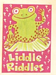 Cracker Jack Toy Prize: Liddle Riddles Frog (Image1)
