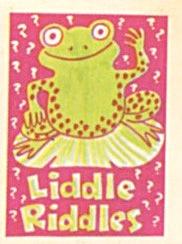 Cracker Jack Toy Prize: Liddle Riddles Frog (Image1)