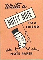 Cracker Jack Toy Prize: Note Paper Nutty Notes