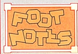 Cracker Jack Toy Prize: Note Paper Foot Notes (Image1)