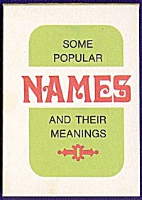 Cracker Jack Toy Prize: Name Book (Image1)