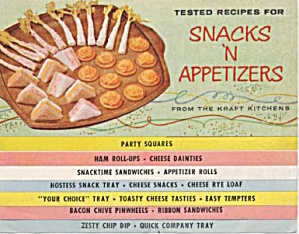 Kraft Recipes for Snacks 'N Appetizers (Image1)