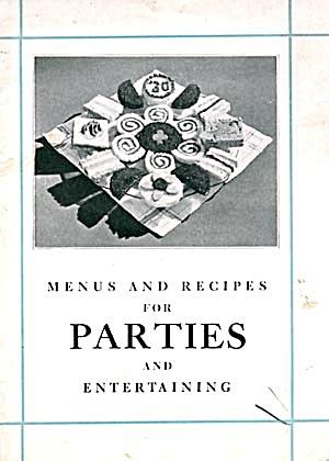 Menus & Recipes for Parties & Entertaining Recipes (Image1)