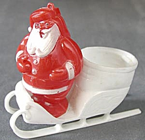 Vintage Santa in Sled Candy Container (Image1)