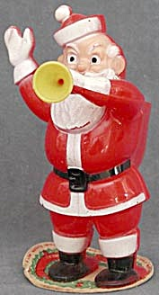 Vintage Rosen Santa Candy Container with Horn (Image1)