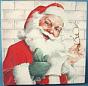 Vintage Santa Box Of Gift Wrap
