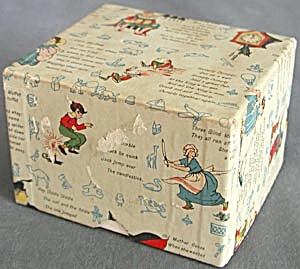 Vintage Nursery Rhyme  Cardboard Christmas Box (Image1)