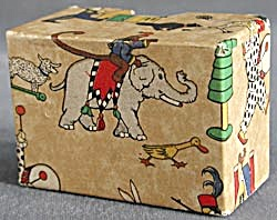 Vintage Toy Cardboard Christmas Box