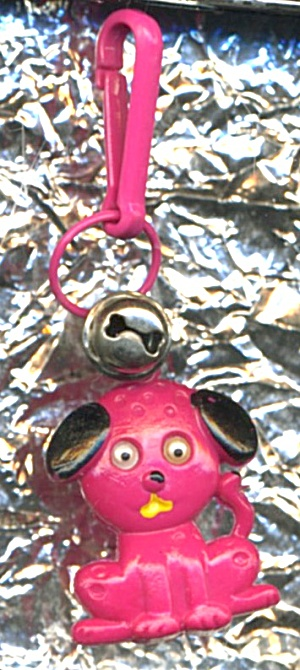 80s Bell Charm Keychain Clip Puppy