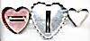 Vintage Metal Heart Cookie Cutters Set of 3 (Image1)