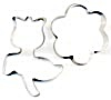Vintage Metal Flower Cookie Cutters Set of 2 (Image1)