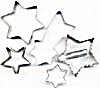 Vintage Metal Stars Cookie Cutters Set of 5 (Image1)