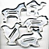 Vintage Metal Animal Cookie Cutters Set Of 5