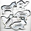 Vintage Metal Animal Cookie Cutters Set of 5 (Image1)