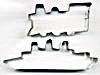 Vintage Metal Ship & Train Cookie Cutters Set of 2 (Image1)