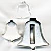 Vintage Metal Bell Cookie Cutters Set of 3 (Image1)