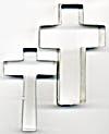 Vintage Metal Cross Cookie Cutters Set of 2 (Image1)