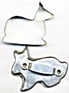 Vintage Metal Deer & Bunny Cookie Cutters Set of 2 (Image1)