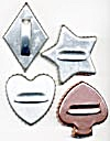Vintage Metal Card  Cookie Cutters Set of 4 (Image1)