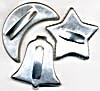 Vintage Metal Bell Star & Moon Cookie Cutters Set of 3 (Image1)