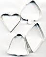 Vintage Metal Diamond Bell Spade Heart Cutters Set 4 (Image1)