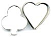 Vintage Metal Heart & Clover Cookie Cutters Set Of 2