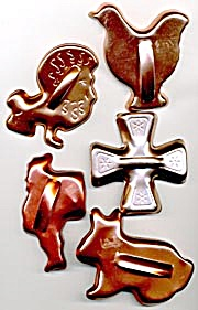 Vintage Coppertone Aluminum Cookie Cutters