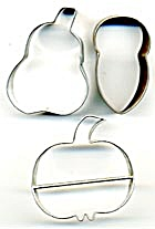 Vintage Pear Acorn Pumpkin Cookie Cutters (Image1)