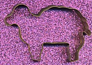 Copper Lamb Cookie Cutter (Image1)