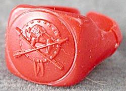 Cracker Jack Toy Prize: Ring Buffalo (Image1)