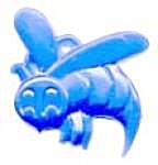 Cracker Jack Toy Prize: Charm Stylized Bee (Image1)