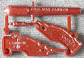 Cracker Jack Toy Prize: Put Together Cannon