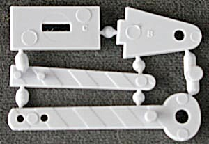 Cracker Jack Toy Prize: Put Together Train Gate (Image1)