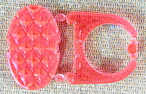Cracker Jack Toy Prize:pink Snap Together Jewel Ring