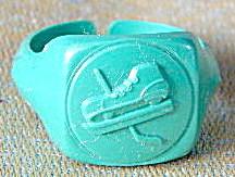 Cracker Jack Toy Prize: Ring Hockey Skate (Image1)