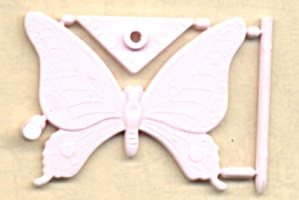 Cracker Jack Toy Prize:pink Snap Together Butterfly