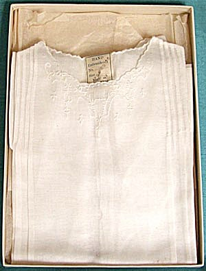 Vintage White Baby Dress in Original Box (Image1)