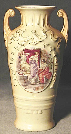 Vintage Austrian Vase With Women Vases At Silversnow Antiques And More