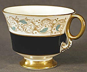 Vintage: Adderly Black and Aqua Cup (Image1)