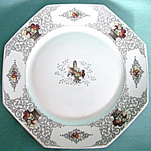 Vintage Octagon Bavarian Large Plate with Fruit (Image1)