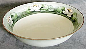 Vintage Bavarian Hand Painted Water Lilies Bowl (Image1)