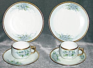 Vintage Bavaria Forget Me Not Set Of 2