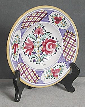 Czechoslovakia Hand Painted Red Flower Bowl (Image1)
